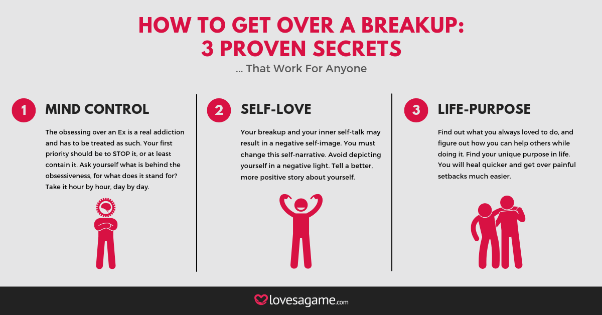 3 Secrets How To Get Over A Breakup Infographic