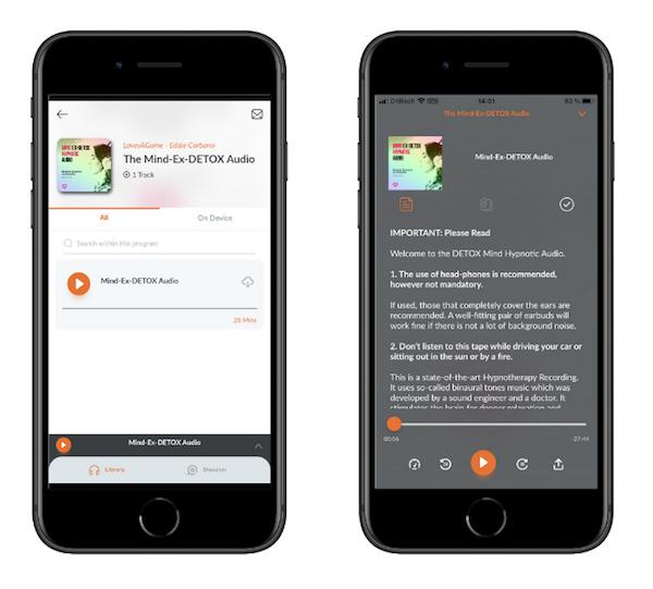 ExDETOX Audio iPhone