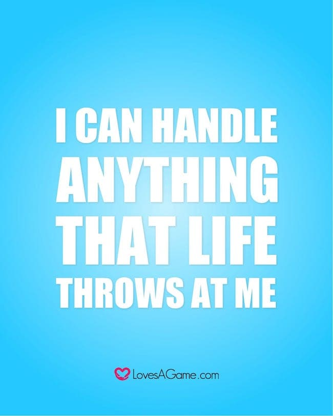 I can handle anything quote