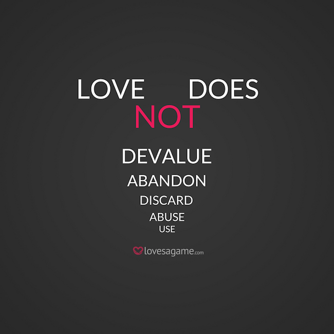 Love does not use people